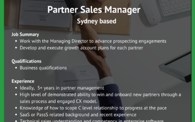 Partnership Sales Manager